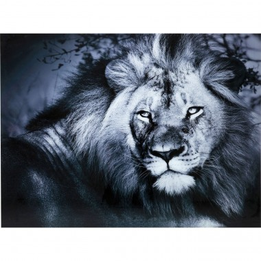 Tableau en verre Lion King 120x160cm Kare Design