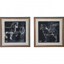 Tableau Frame Horse Studies 110x110cm Kare Design