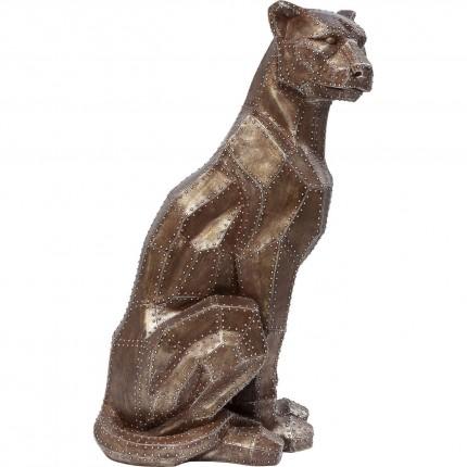 Déco Sitting Cat Rivet cuivrée Kare Design