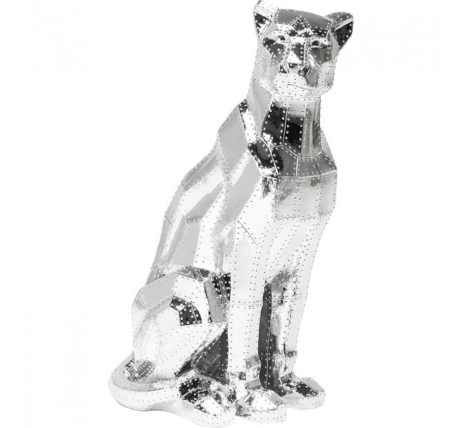 Déco Sitting Cat Rivet chrome Kare Design