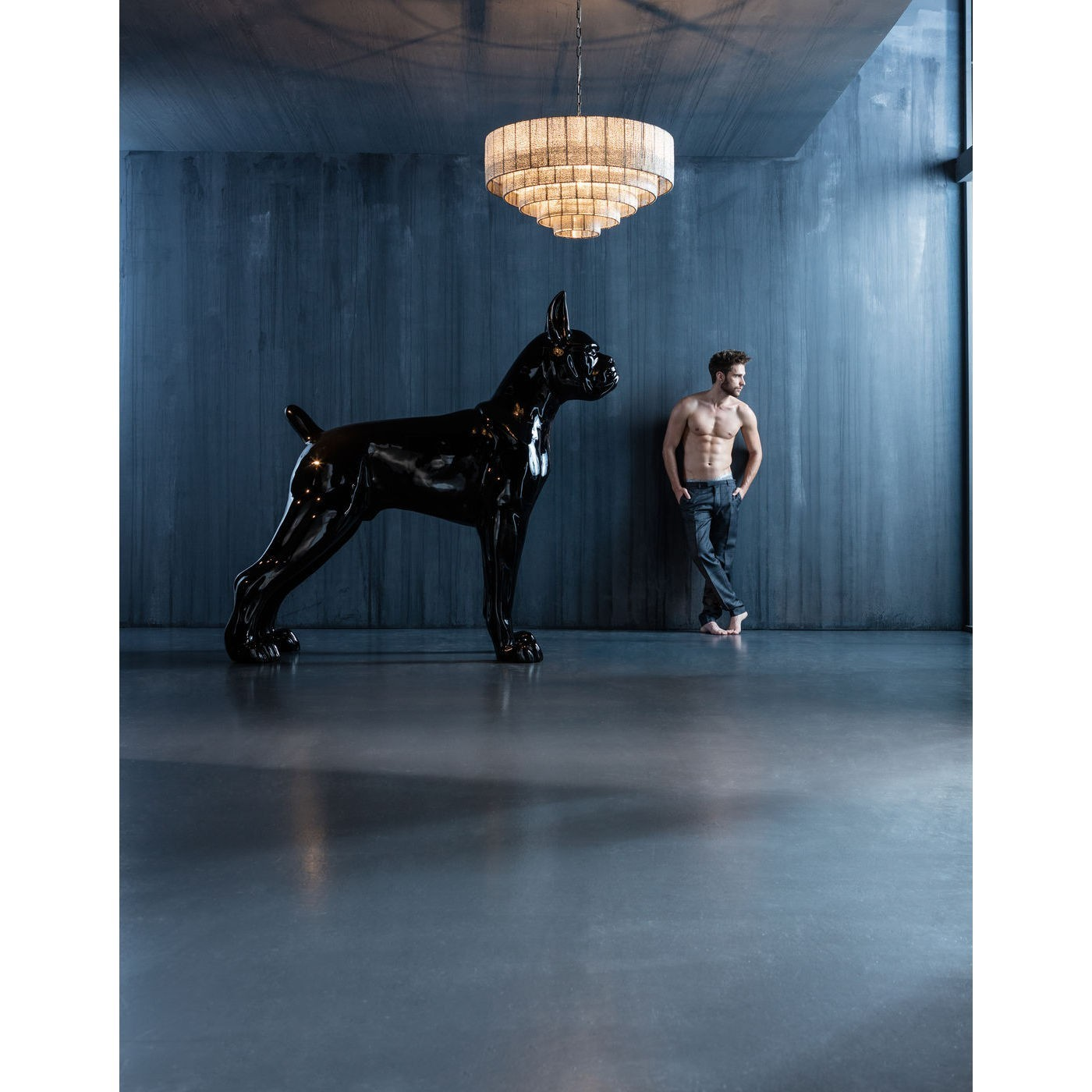 Déco chien Toto XXL noir Kare Design