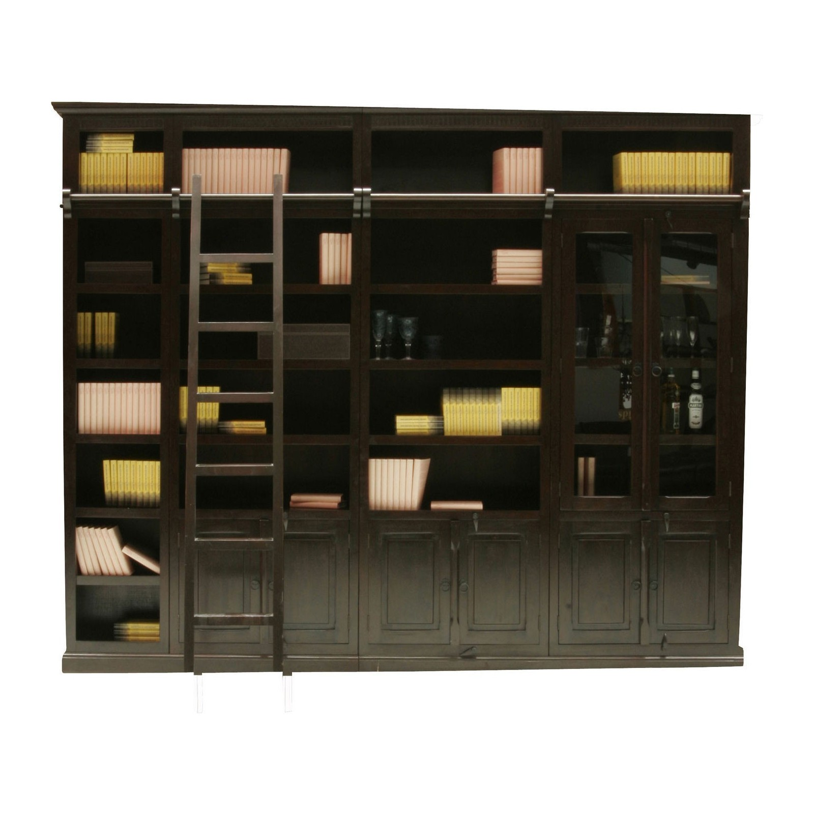 element bibliotheque cabana avec portes kare design. Black Bedroom Furniture Sets. Home Design Ideas