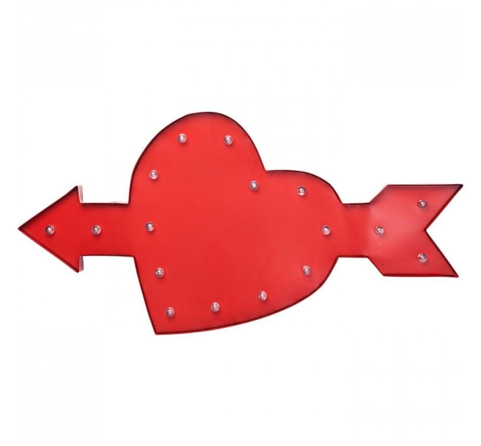 Applique Amore rouge LED Kare Design