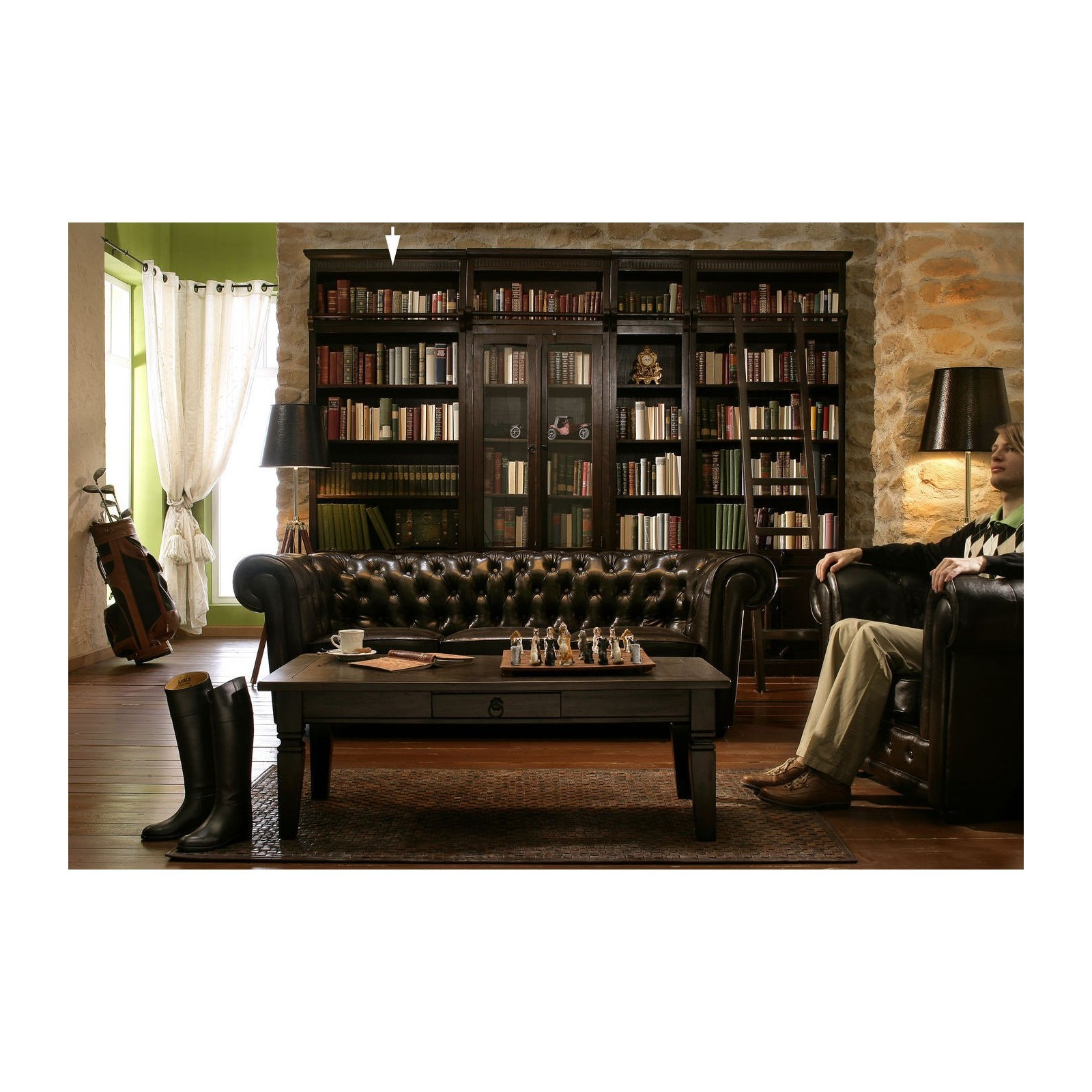 echelle biblioth que style colonial cabana kare design. Black Bedroom Furniture Sets. Home Design Ideas