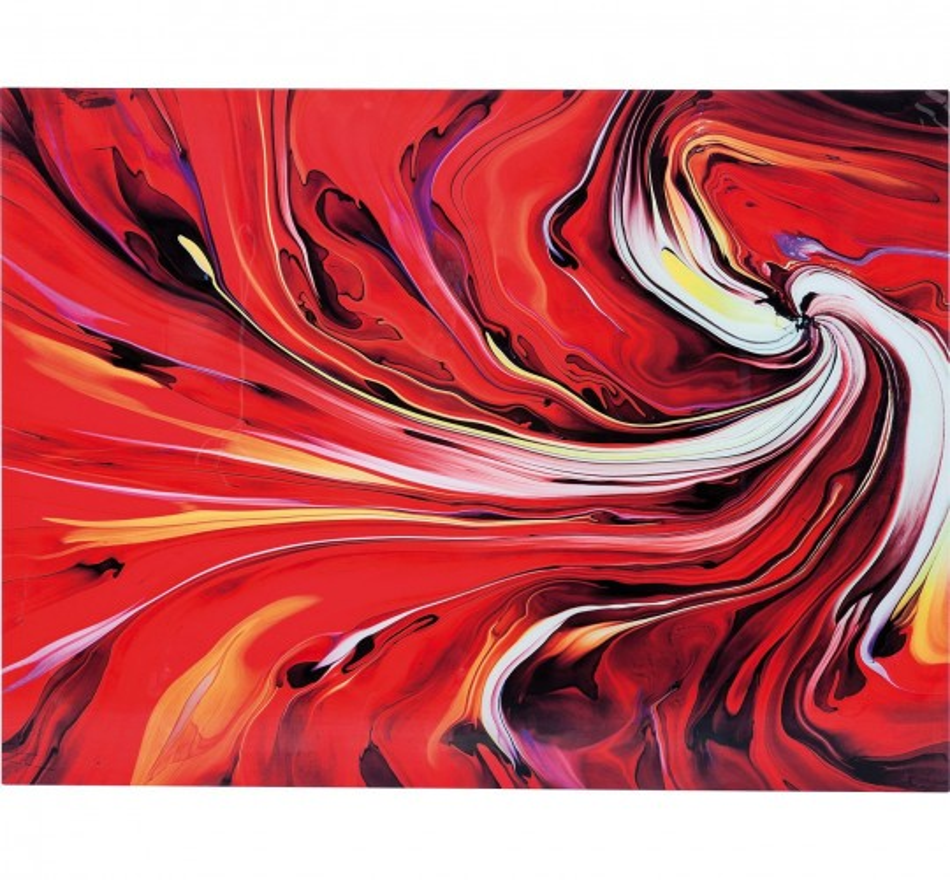 Tableau en Verre Chaos Fire 150x120 Kare Design