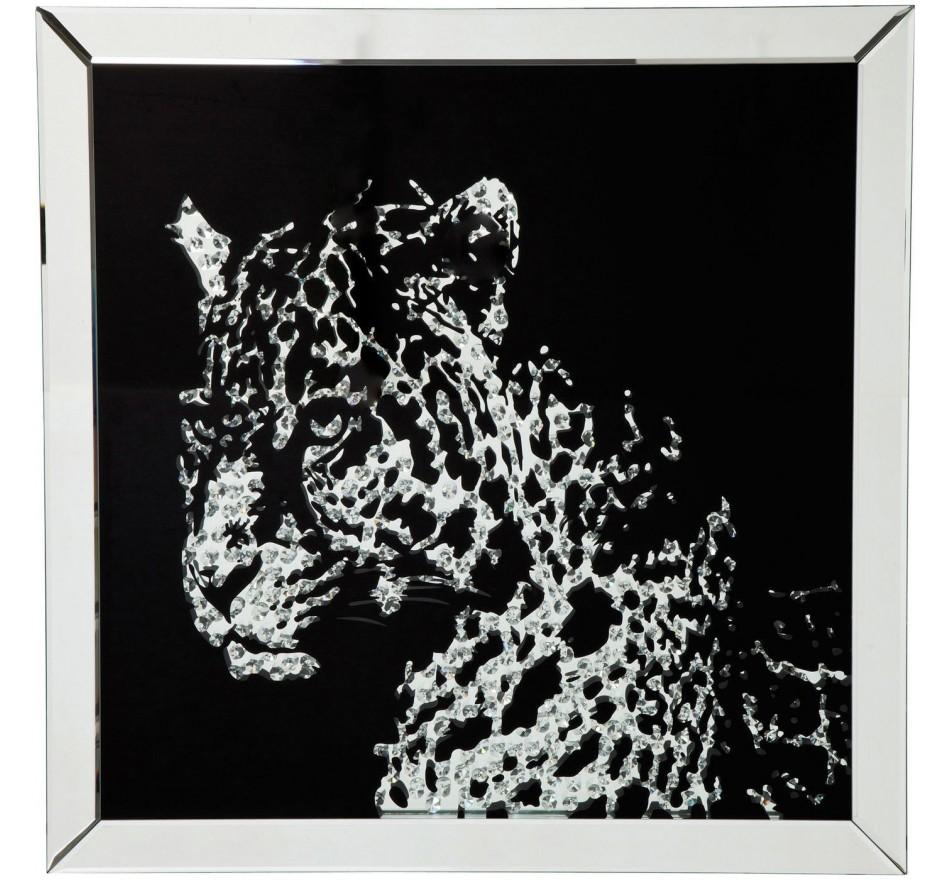 Tableau Frame miroir léopard 80x80cm Kare Design