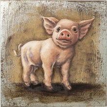 Tableau Iron Piggy 80x80 Kare Design