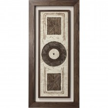 Decoration murale Gobi Circle marron 70x150 cm Kare Design