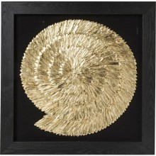 Décoration murale Golden Snail 120x120 Kare Design