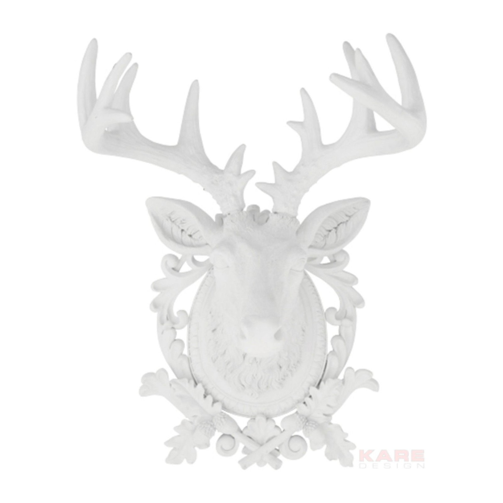Deco tete de cerf kare design for Decoration murale blanche