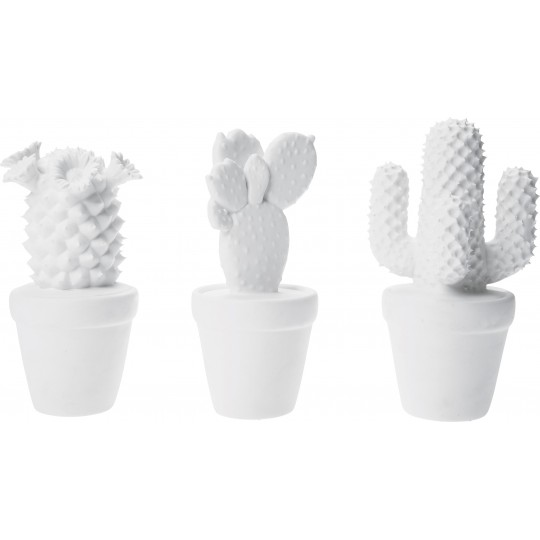 Deco Cactus Blanc 3/set Kare Design