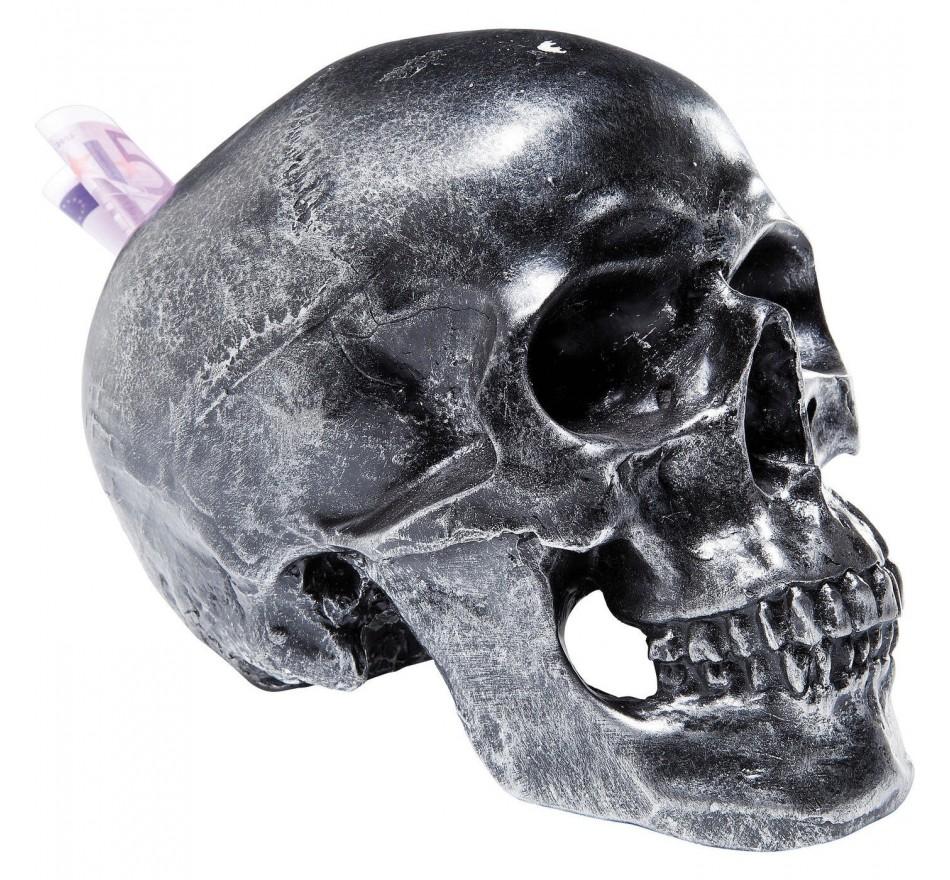 Tirelire Skull Argent Antique Kare Design
