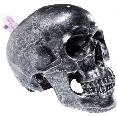 Tirelire Skull Argent Antique Kare Design