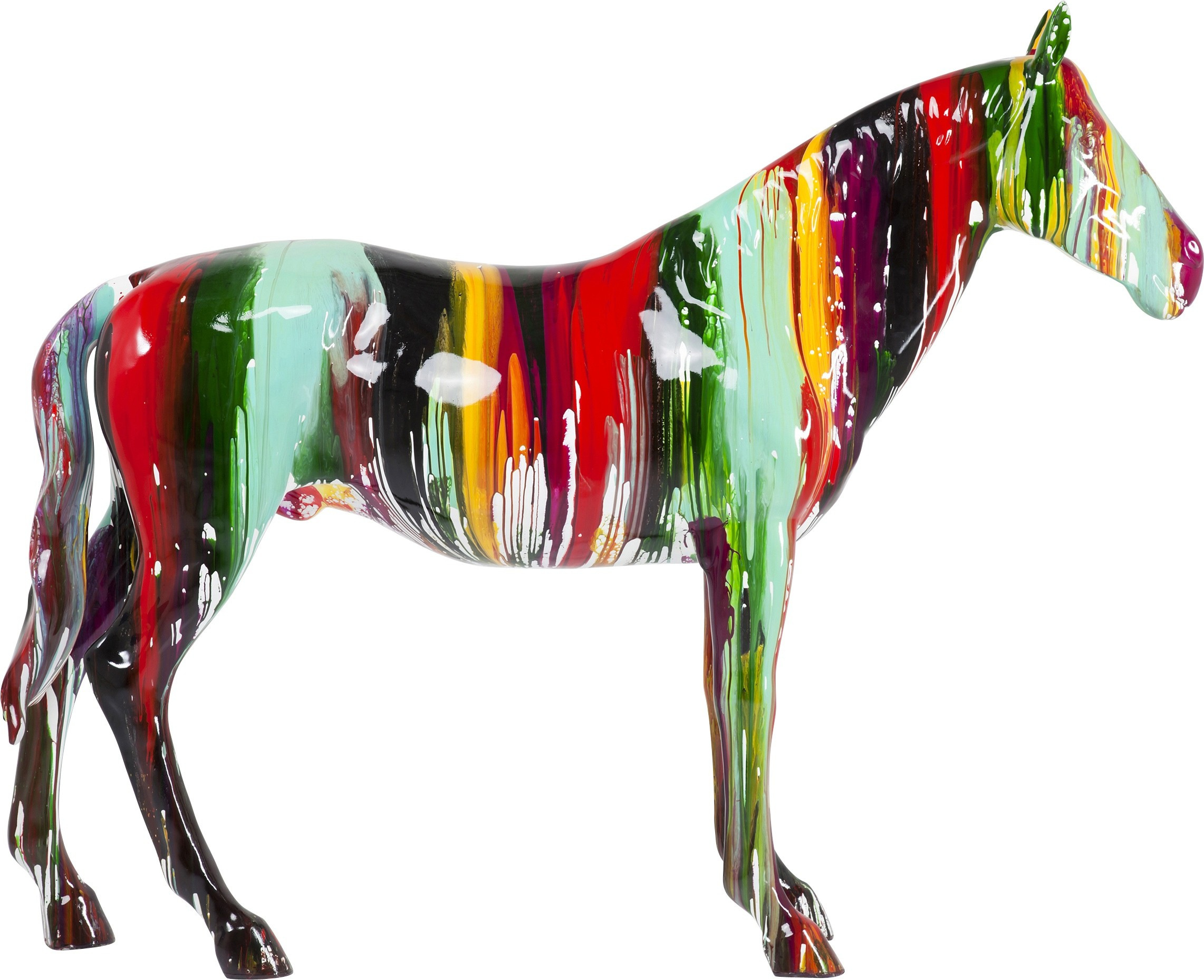 Déco cheval multicolore XXL Kare Design