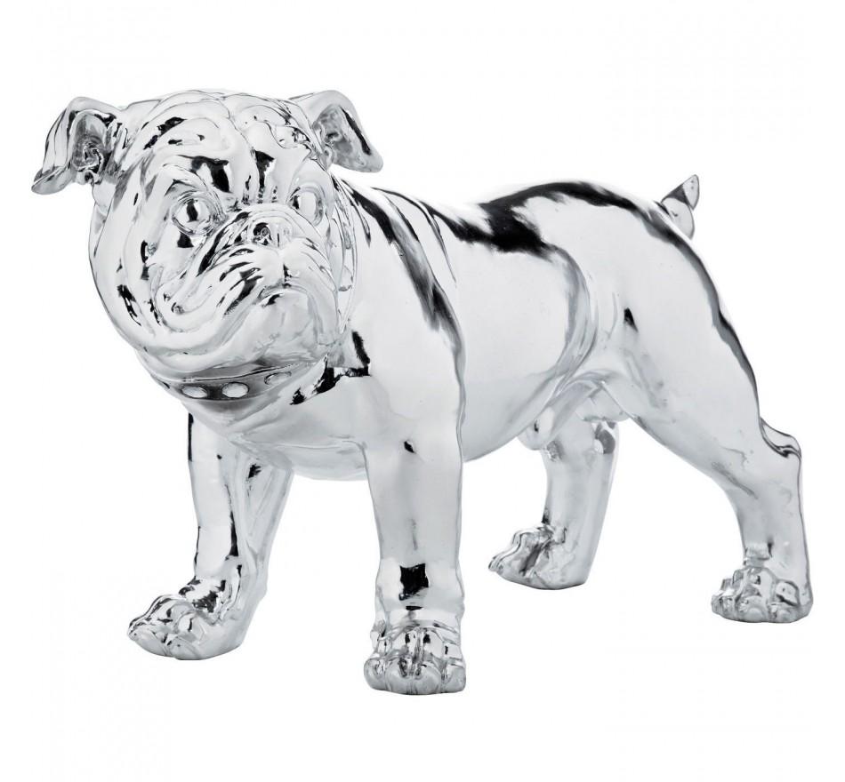 Déco Bulldog Silver 42 cm Kare Design