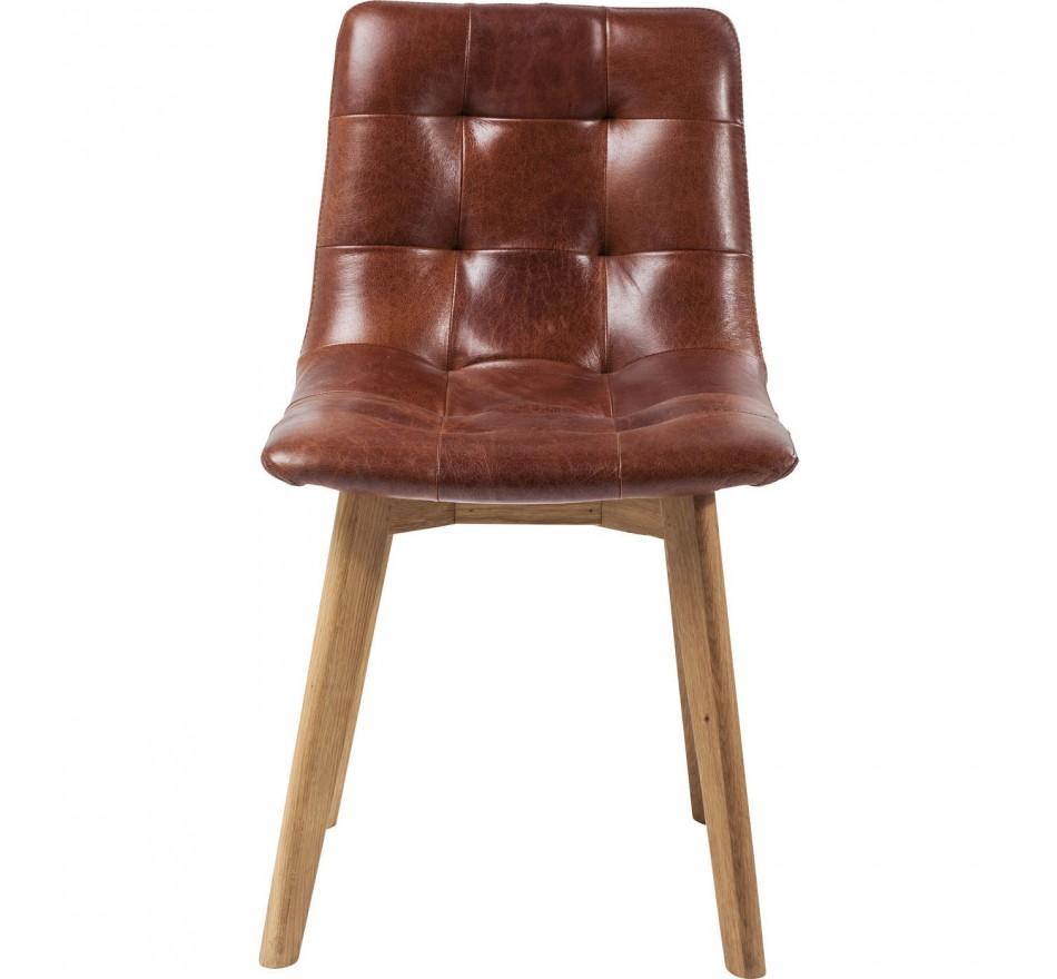 Chaise Moritz cuir Kare Design