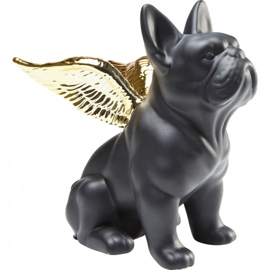 Deco Sitting Angel Dog doré Kare Design