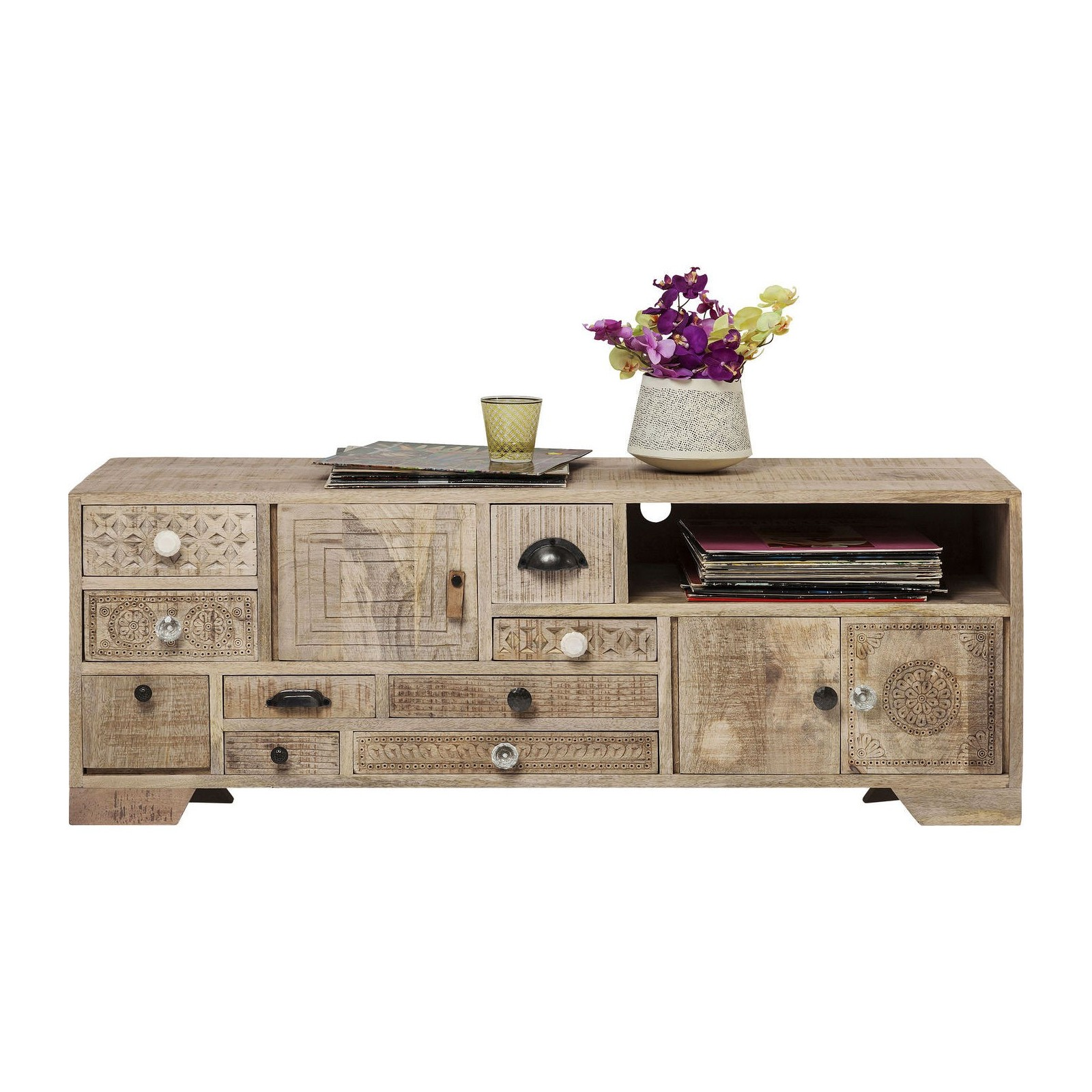 meuble tv ethnique en bois puro kare design. Black Bedroom Furniture Sets. Home Design Ideas