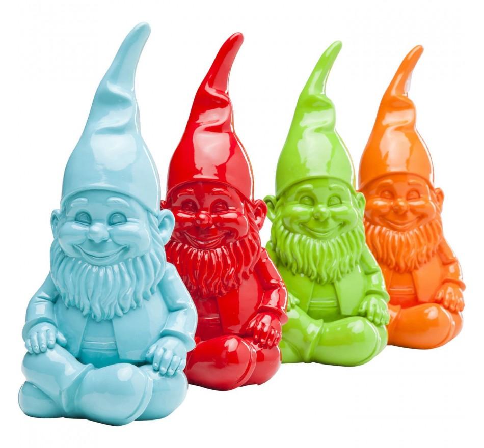 Tirelires gnome colorés assis 27cm 4/set Kare Design