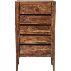 Commode haute Brooklyn nature 5 tiroirs Kare Design