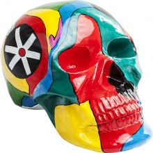 Tête décorative Skull colore Kare Design