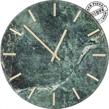 Horloge murale Desire marbre vert Kare Design