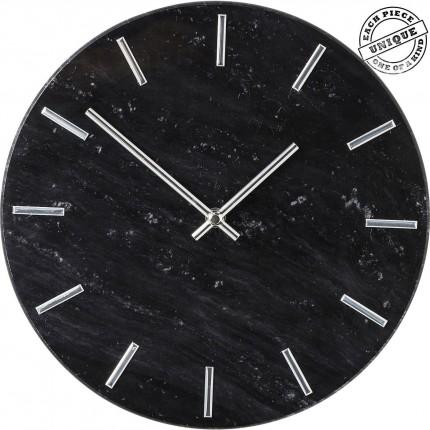 Horloge murale Desire marbre noir Kare Design