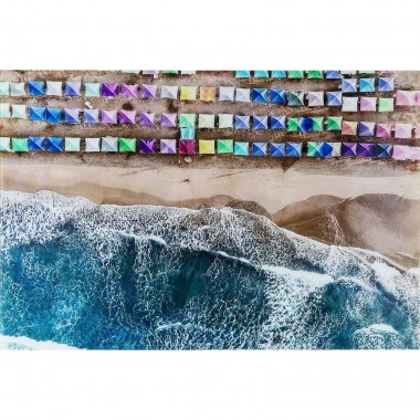 Tableau en verre The Beach 100x150cm Kare Design