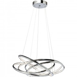 Suspension Saturn LED 120cm chromée Kare Design
