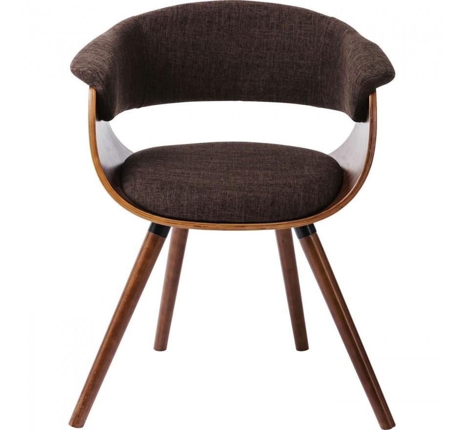 Chaise avec accoudoirs Monaco choco Kare Design