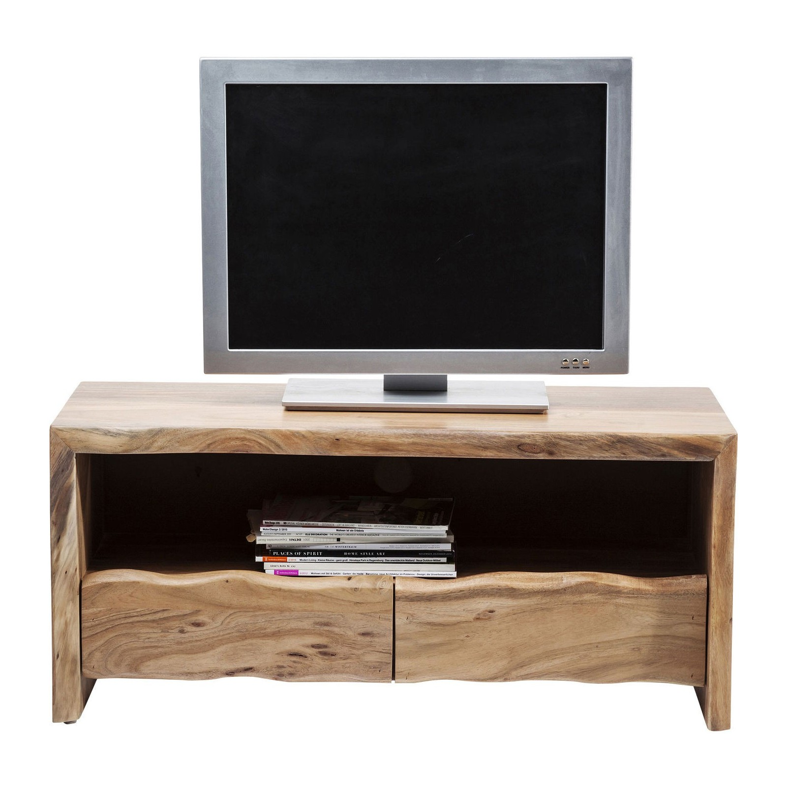 Meuble tv scandinave en bois pure nature kare design for Meuble tv bois 110 cm