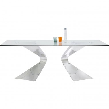 Table Gloria chromée 200x100cm Kare Design