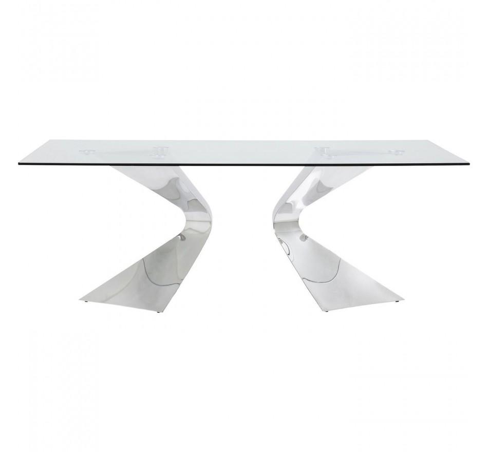 Table Gloria chrome 200x100 cm Kare Design