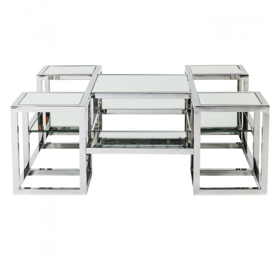 Table basse Steps miroir 100x100 cm Kare Design