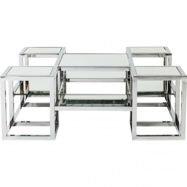 Table basse Steps miroir 100x100 cm Kare Design