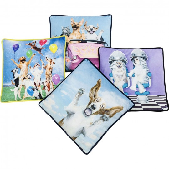 Coussin Dogs Life 45x45cm Kare Design