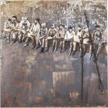 Tableau Iron Construction Workers 100x100 cm Kare Design