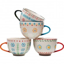 Tasses Grandmas Flowers 4/set Kare Design