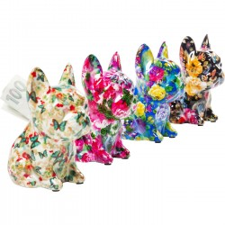 Tirelire Dog Fiore 12cm set de 4 Kare Design