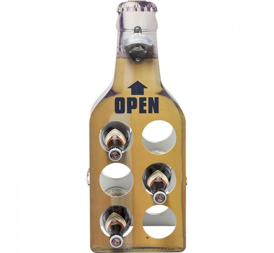 Porte-bouteilles Open Bottle jaune Kare Design