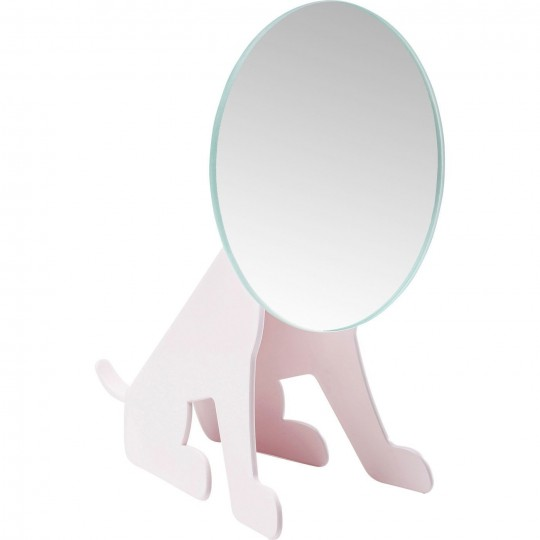 Miroir de table Dog Face fuchsia Kare Design