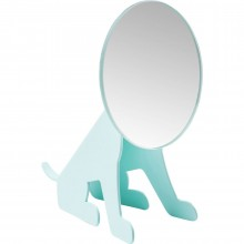 Miroir de table Dog Face menthe Kare Design