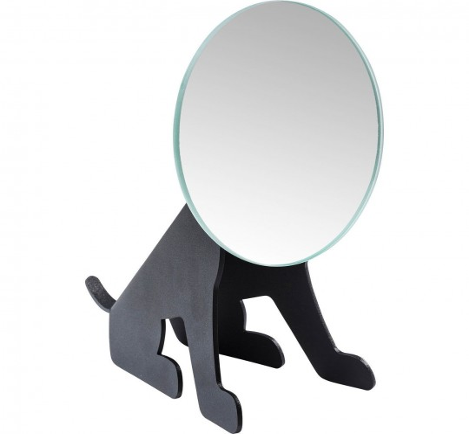 Miroir de table Dog Face noir Kare Design
