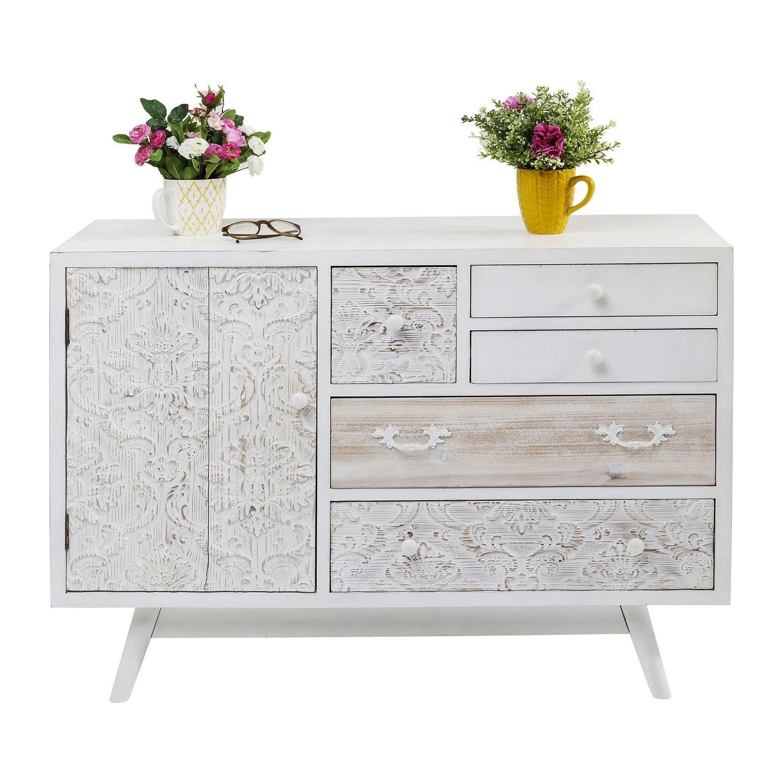 Buffet boh me blanc sweet home kare design for Meubles sweet home
