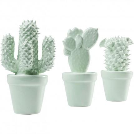 Déco Cactus menthe set de 3 Kare Design