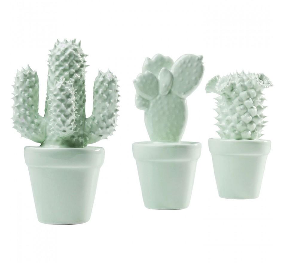 Objet décoratif Cactus menthe 3/set Kare Design