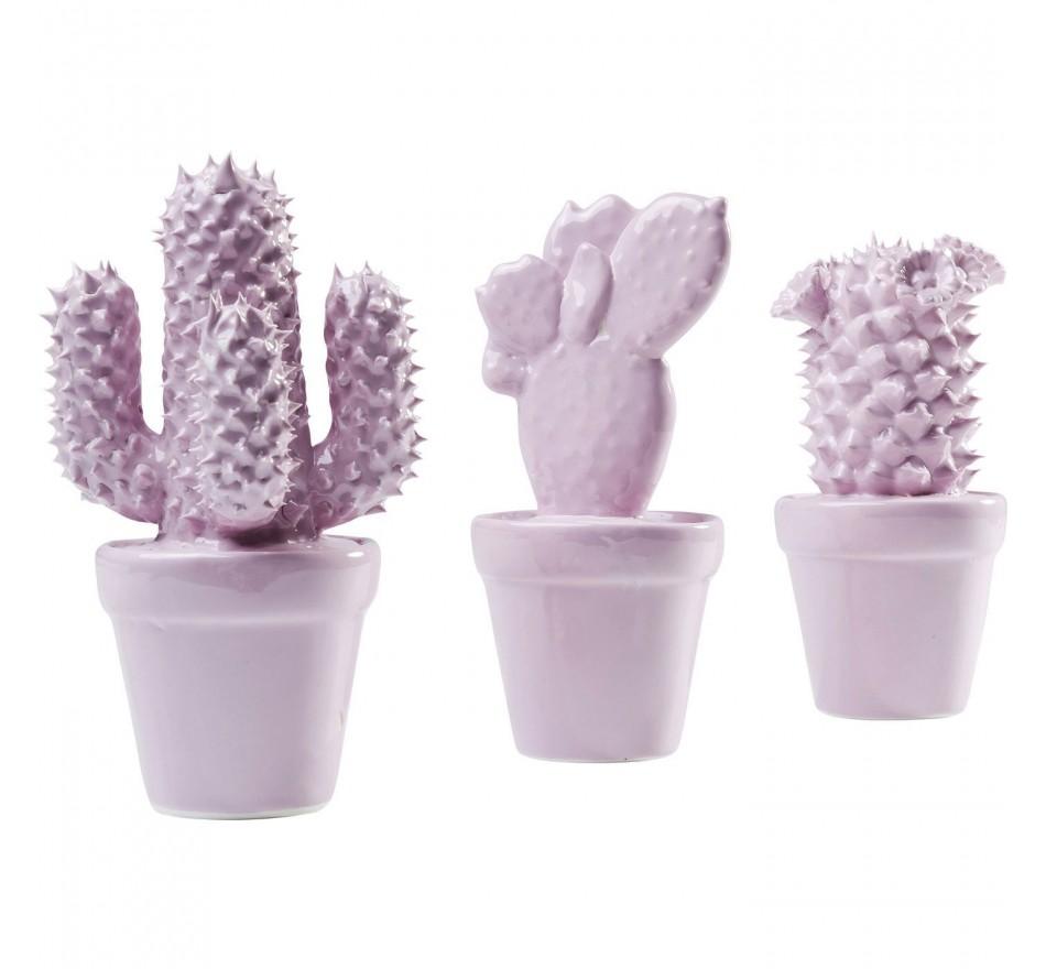 Objet décoratif Cactus rose 3/set Kare Design