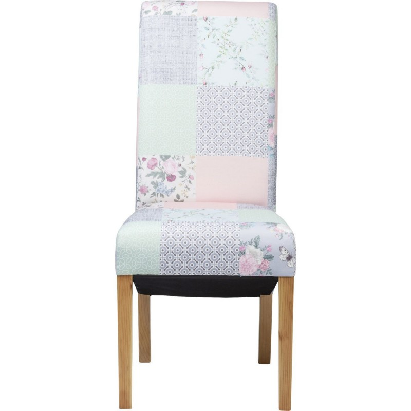 Chaise contemporaine multicolore patchwork powder kare design for Chaise patchwork