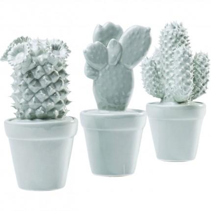Deco Cactus Bleu clair set de 3 Kare Design