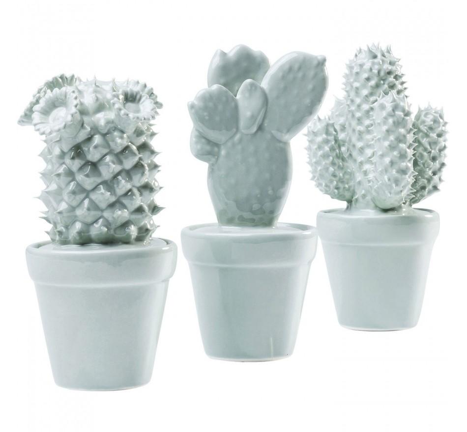 Objet décoratif Cactus bleu clair 3/set Kare Design